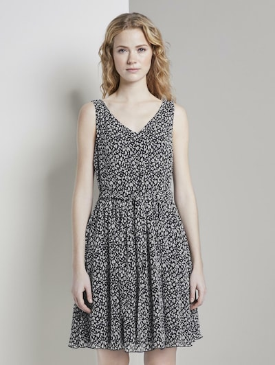 TOM TAILOR Kleid in dunkelblau / weiß, Modelansicht