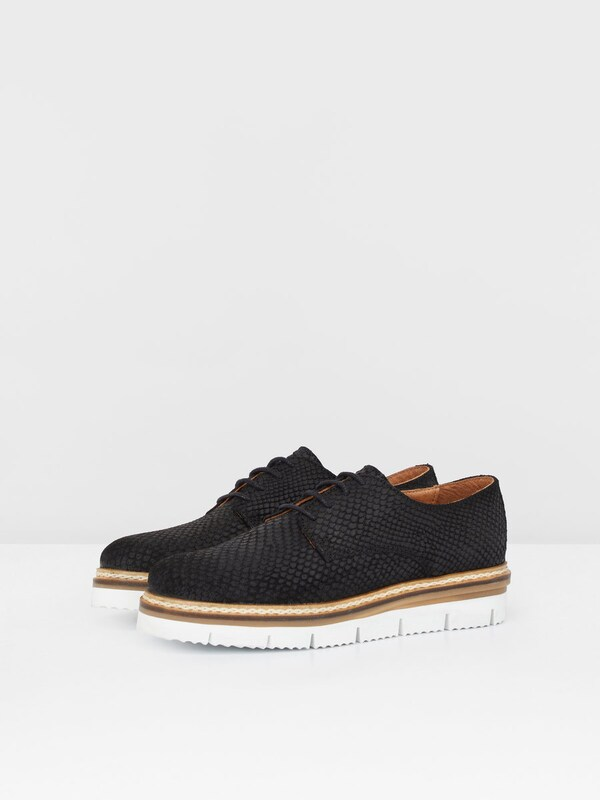 Bianco Derby-Schuhe 'Cleaved Laced Up'