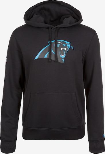 NEW ERA Sweatshirt 'NFL Carolina Panthers' in aqua / schwarz: Frontalansicht