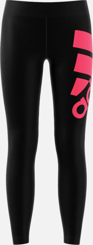 ADIDAS PERFORMANCE Leggings 'MH Bos' in pink / schwarz: Frontalansicht