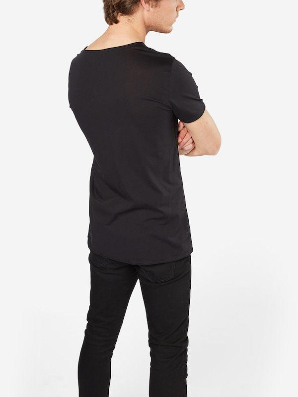 Hugo Basic-shirt With Open Hems Depus