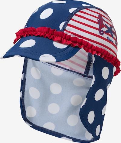 PLAYSHOES Mütze in blau / feuerrot / weiß, Produktansicht