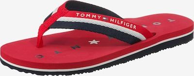 TOMMY HILFIGER Zehentrenner 'Midnight' in rot / schwarz / weiß: Frontalansicht
