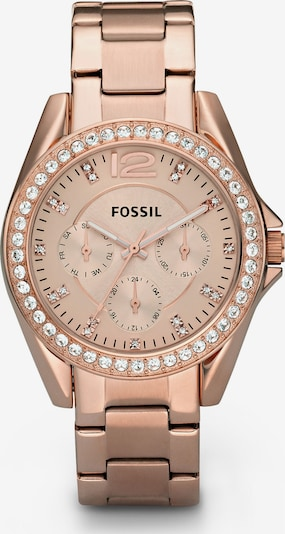 FOSSIL Multifunktionsuhr 'Riley' in rosegold, Produktansicht