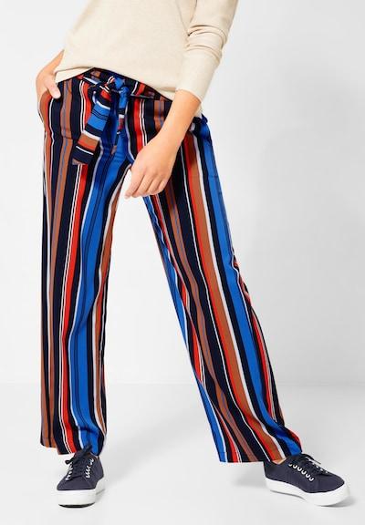 STREET ONE Hose in blau / karamell / orangerot / schwarz, Modelansicht