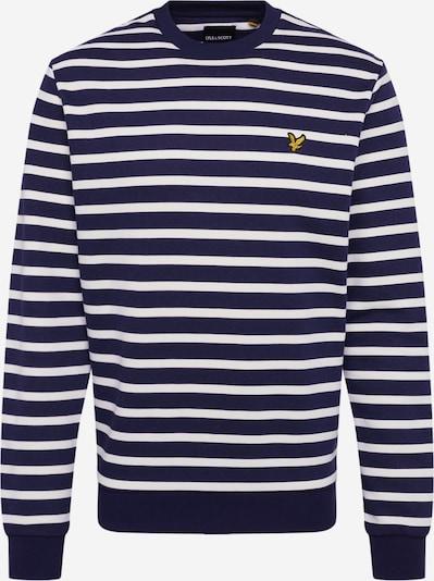 Lyle & Scott Sweatshirt 'Breton' in navy / weiß, Produktansicht