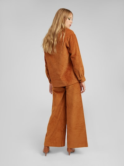 EDITED Pantalon 'Mako' en marron: Vue de dos