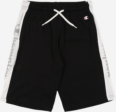 Champion Authentic Athletic Apparel Pantalon de sport en noir / blanc, Vue avec produit