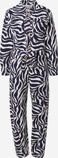 Essentiel Antwerp Jumpsuit in schwarz / weiß: Frontalansicht