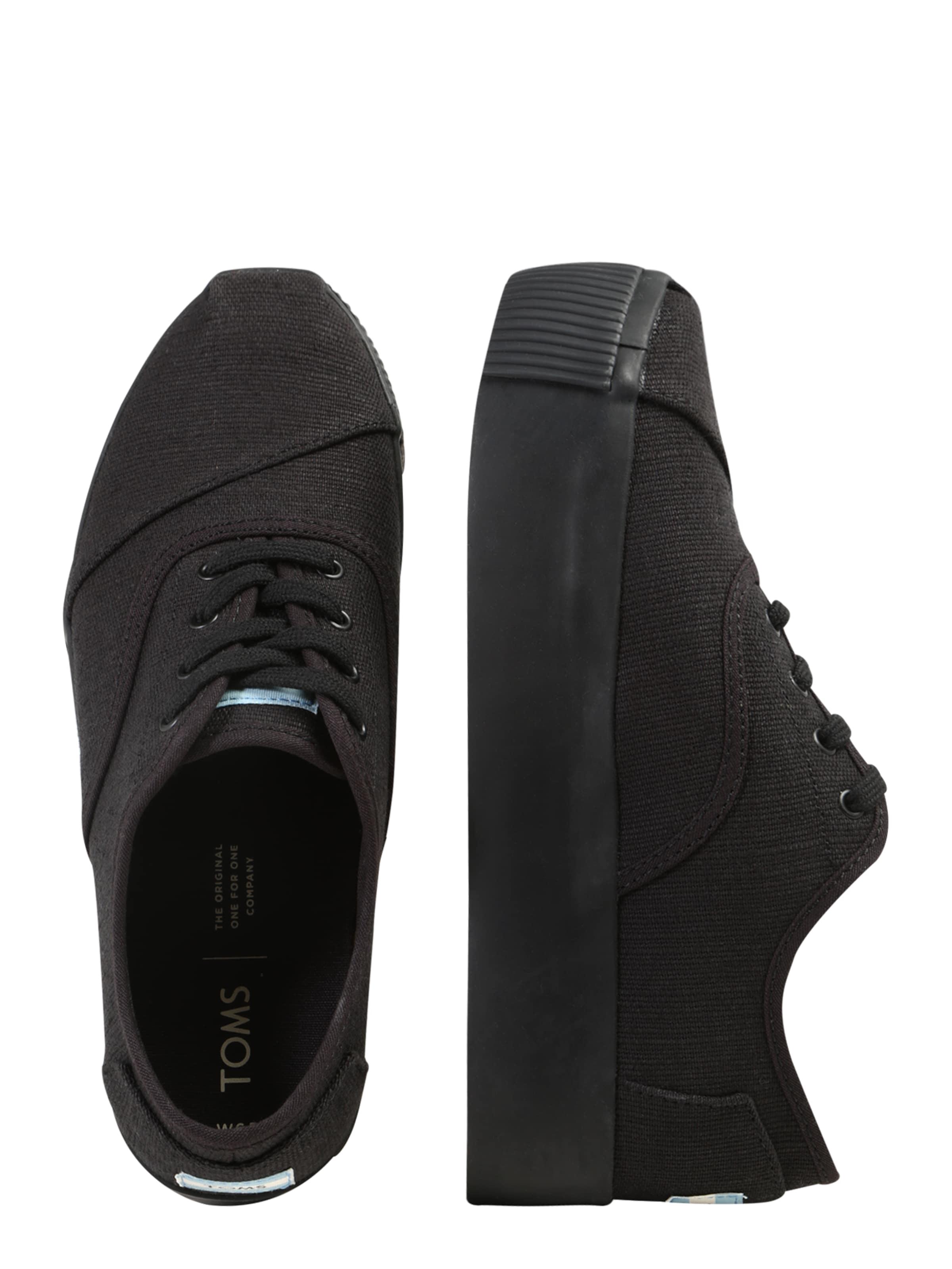 In Toms 'cordones Boardwalk' Schwarz Sneaker XuOTZPki