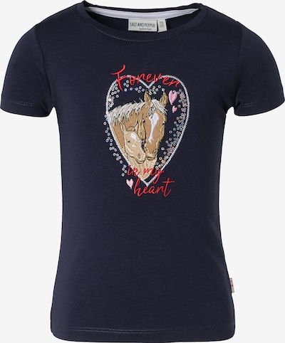 SALT AND PEPPER T-Shirt 'Pferde' in beige / navy / braun / rot, Produktansicht