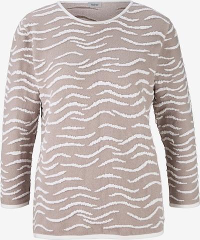 heine Pullover in hellbraun / offwhite, Produktansicht