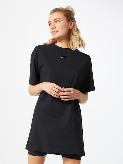 Rochie Nike Sportswear pe negru / alb, Vizualizare model