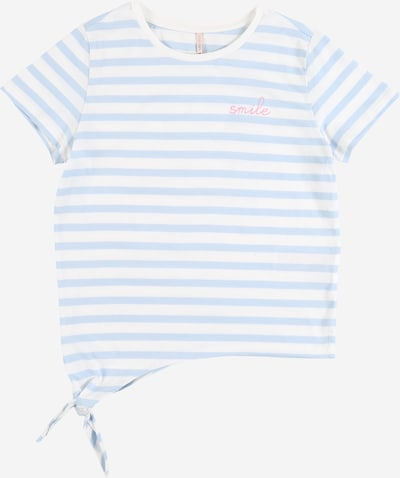 KIDS ONLY Shirt 'KONBRAVE LIFE S/S KNOT TOP JRS' in hellblau / weiß, Produktansicht