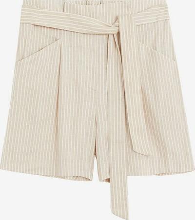 MANGO Shorts in beige / weiß, Produktansicht