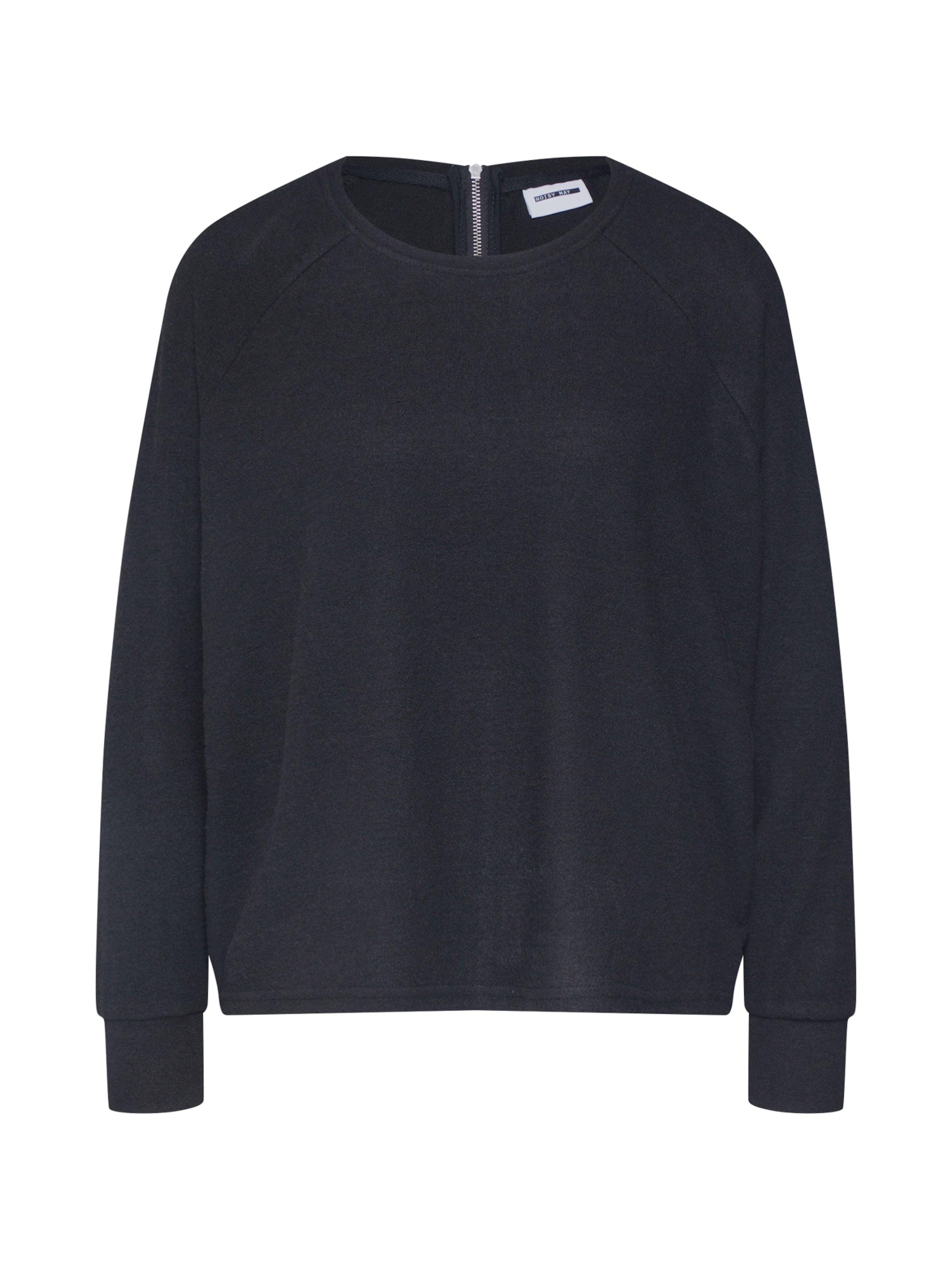 May En Noisy Zip Sweat Top' L s shirt 'nmcity Noir b6vYyIf7gm
