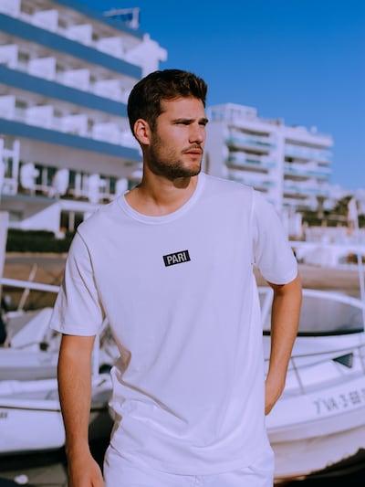 PARI T-Shirt 'Ben' en blanc: Vue de face