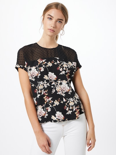 ABOUT YOU Bluse 'Ava' in mischfarben / schwarz, Modelansicht