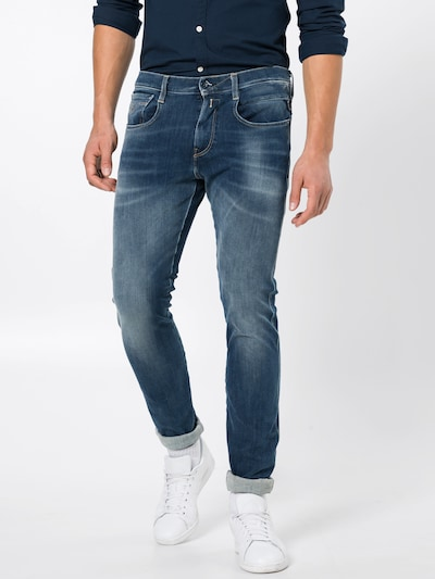 REPLAY Jeans im Used-Style 'Anbass' in blue denim, Modelansicht