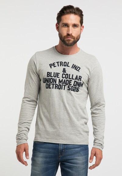 Petrol Industries Shirt in de kleur Grijs gemêleerd: Vooraanzicht