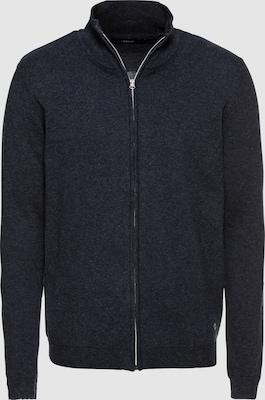 !Solid Gebreid vest 'Knit - Ram' in Donkerblauw