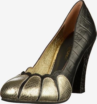 Lola Ramona Pumps in gold / schwarz, Produktansicht