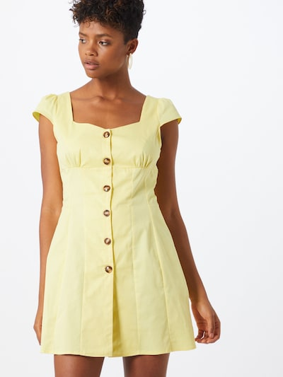GLAMOROUS Kleid in gelb / zitrone: Frontalansicht