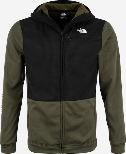 THE NORTH FACE Sport-Jacke 'M TRAIN N LOGO OVERLAY JACKET' in khaki / schwarz, Produktansicht