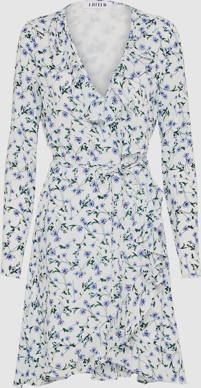 EDITED Wickelkleid 'Farina' in grün   lila   weiß  Großer Rabatt