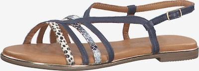 TAMARIS Sandale in blau / silber: Frontalansicht