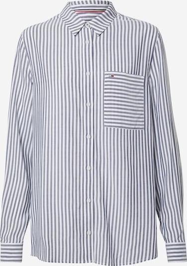 Tommy Jeans Bluse 'DRAPEY' in grau / weiß, Produktansicht