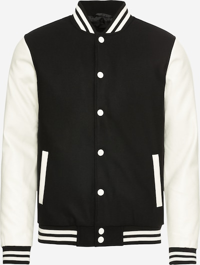 Urban Classics Tussenjas 'Oldschool' in de kleur Zwart / Wit, Productweergave