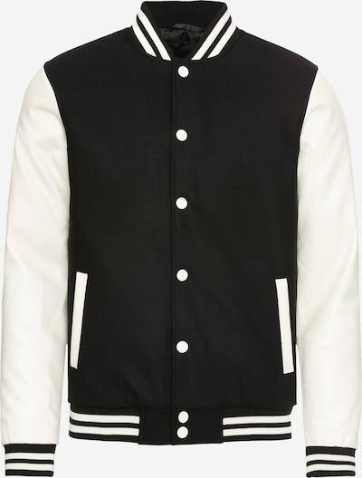 Urban Classics Jacke 'Oldschool College Jacket' in schwarz, Produktansicht