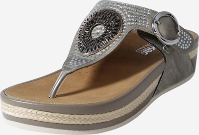 RIEKER T-bar sandals in Taupe, Item view