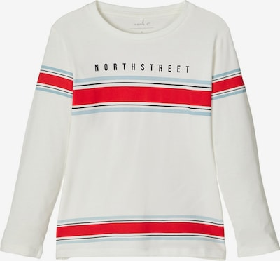 NAME IT Shirt in hellblau / rot / schwarz / weiß, Produktansicht