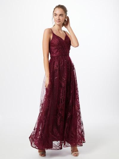Unique Kleid in dunkelrot, Modelansicht