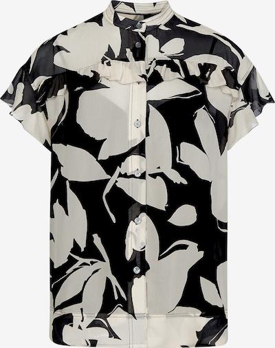 Calvin Klein Bluse 'Georgette' in creme / mischfarben / schwarz / weiß, Produktansicht