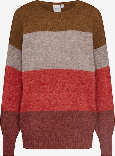 Megztinis 'AMARA LS6' iš ICHI , spalva - mišrios spalvos / raudona: Vaizdas iš priekio