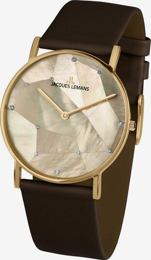 Jacques Lemans Uhr 'York, 1-2050E' in braun / gold, Produktansicht