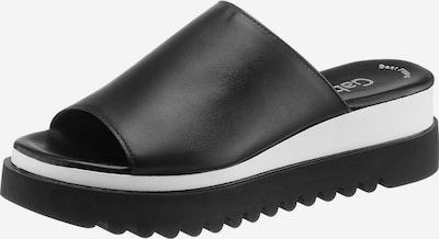 GABOR Pantolette in schwarz / weiß, Produktansicht