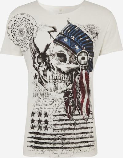 Key Largo T-Shirt 'Indian Skull' en blanc, Vue avec produit