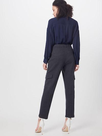 OPUS Spodnie w kant 'Milda SP' w kolorze nakrapiany szarym: Widok od tyłu