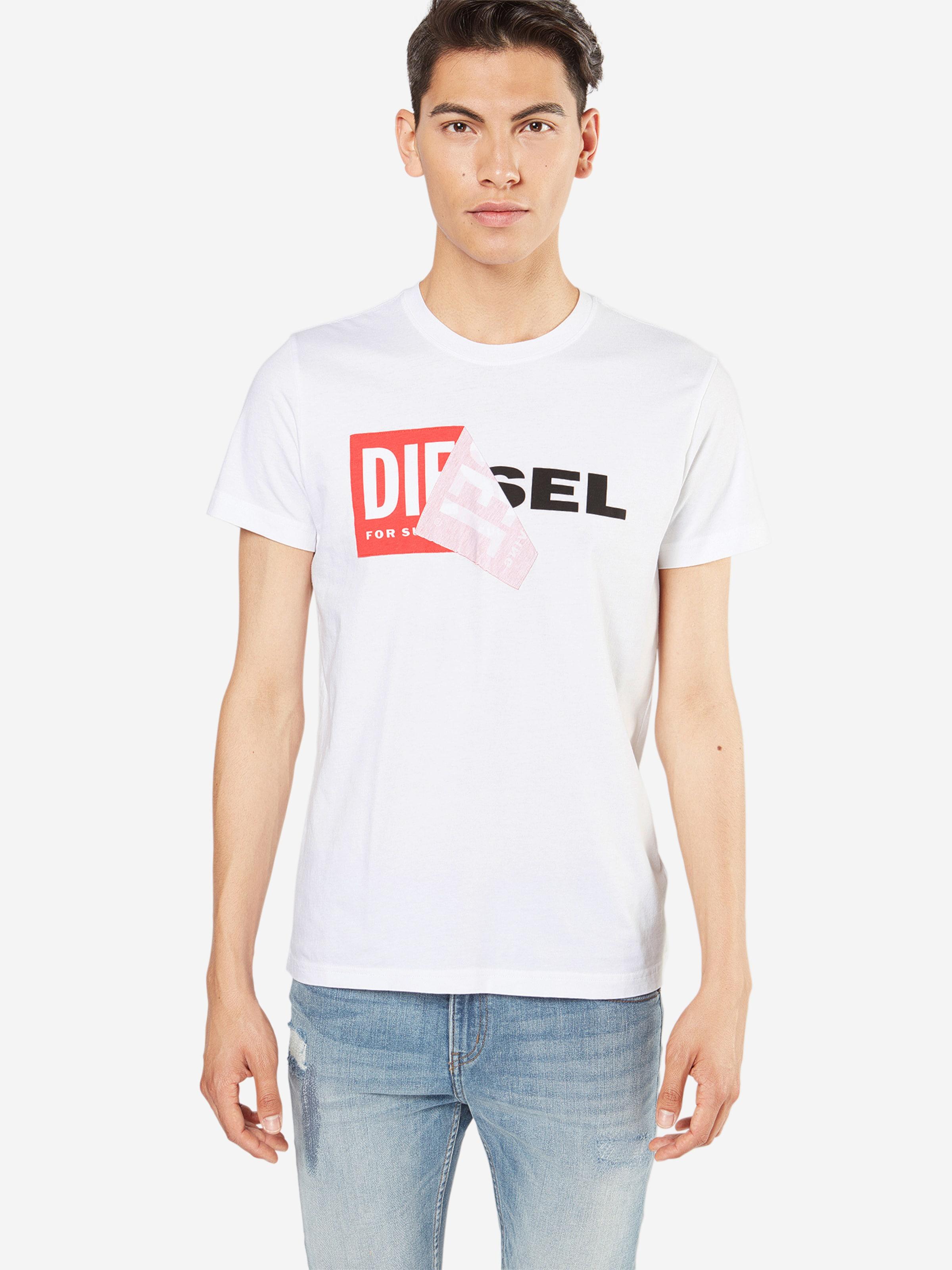 Auslass Fälschen Schnelle Lieferung Günstiger Preis DIESEL T-Shirt 'T-DIEGO-QA' mit Marken-Applikation Günstiger Preis Zu Verkaufen xadYA