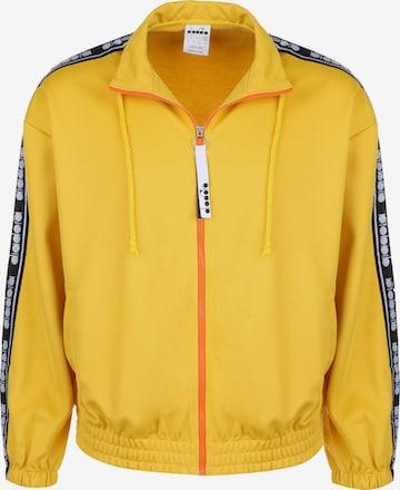 Diadora Athletic Zip-Up Hoodie 'TROFEO' in Yellow