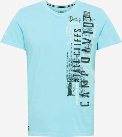 Tricou CAMP DAVID pe turcoaz / negru, Vizualizare produs