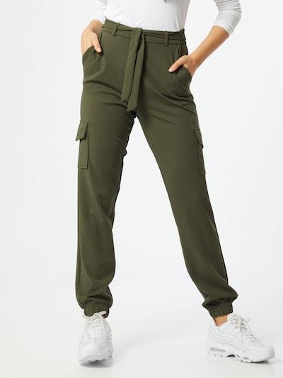JACQUELINE de YONG Hose 'Catia' in dunkelgrün, Modelansicht