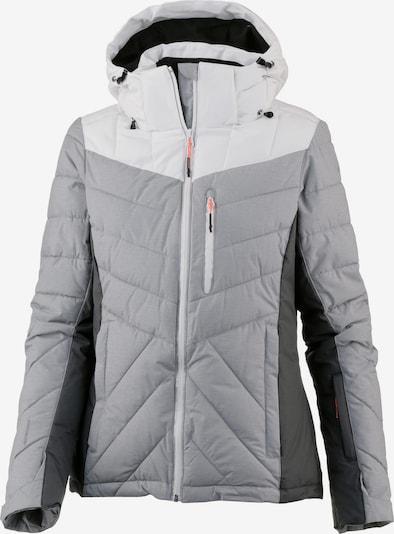ICEPEAK Jacke 'Kendra' in hellgrau / dunkelgrau / weiß, Produktansicht
