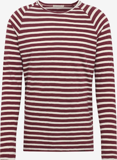 Nudie Jeans Co Shirt 'Otto Stripes' in de kleur Wijnrood, Productweergave