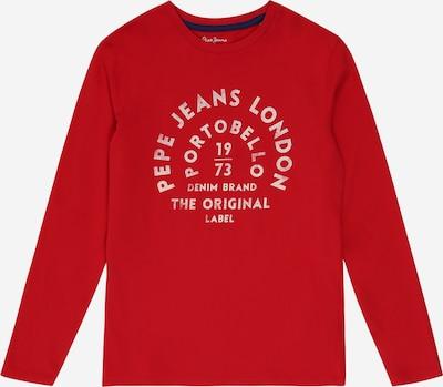 Pepe Jeans Koszulka 'ANTONI' w kolorze czerwony / białym: Widok z przodu