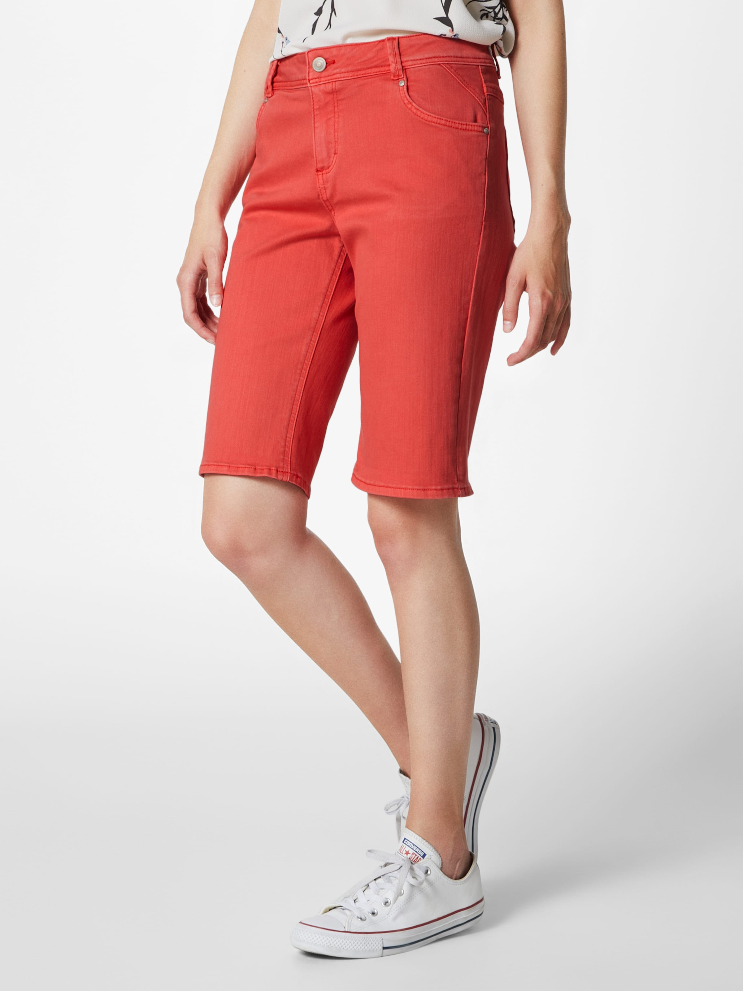oliver Red Hose Label Bermuda In S Hellrot POkXiuZ
